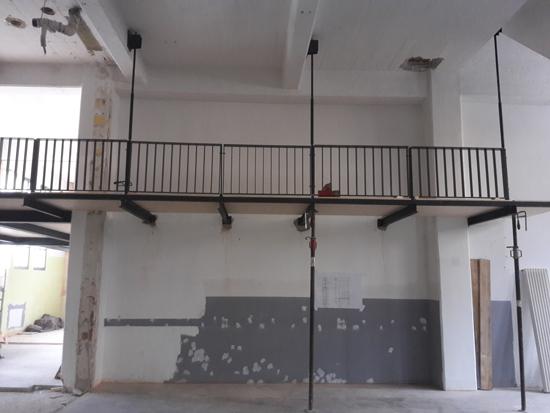 Balkon in Theaterraum